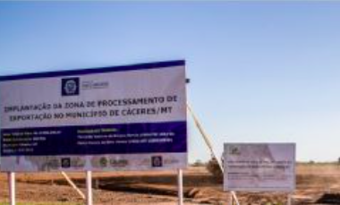 Por falta de pagamento e projeto, empresa paralisa obra da ZPE de Cáceres