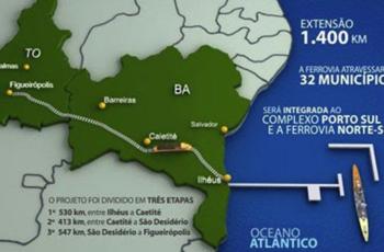 Nos trilhos do desenvolvimento: governo baiano a um passo de licitar Porto Sul e Fiol