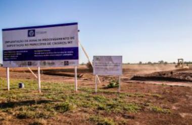 Estado quer retomar obra e prevê investir R$ 60 milhões na ZPE de Cáceres