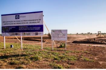 Com orçamento de R$ 15,4 milhões, obras da ZPE de Cáceres são retomadas e devem ser concluídas em 15 meses