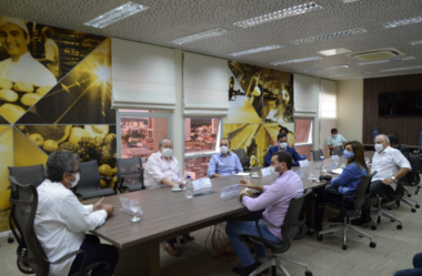 Presidente da FIERN trata sobre ZPE de Macaíba em reunião com SEDEC e Prefeitura de Macaíba